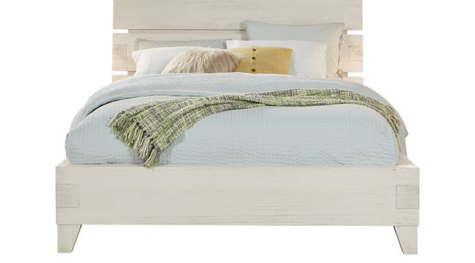 Crestwood Creek Off-White 3 Pc Queen Panel Bed - Contemporary