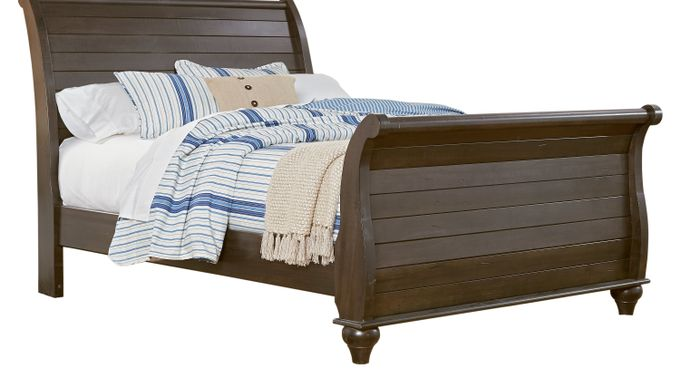 Summer Grove Graphite (black)  3 Pc Queen Sleigh Bed - Traditional