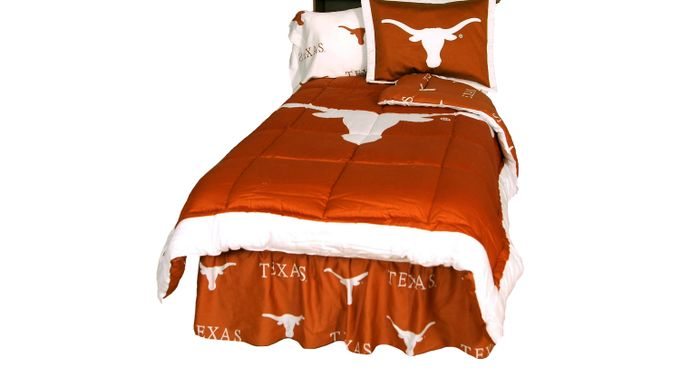 University of Texas Orange Twin Bed Set