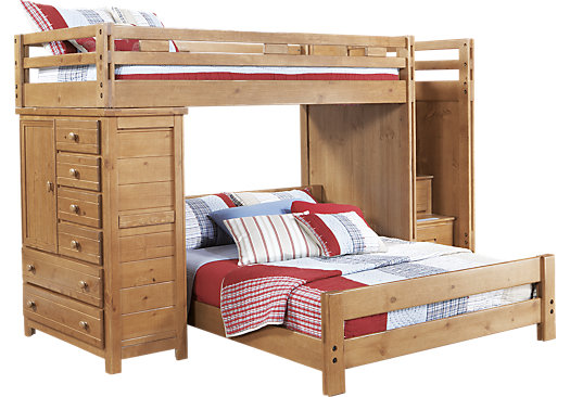 Creekside Taffy Twin Full Step Bunk Bed W Chest Bunk Chest