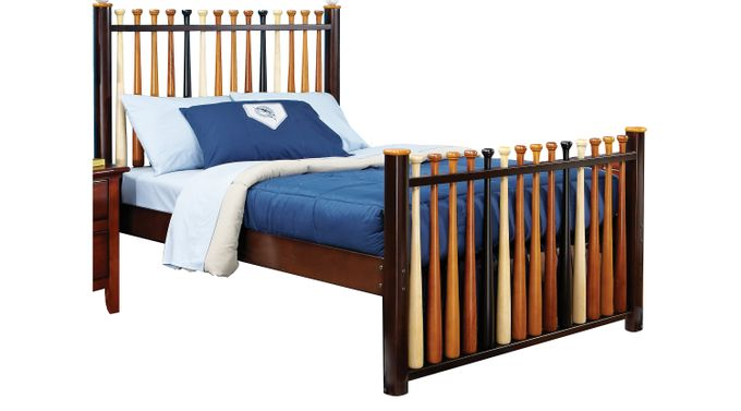 Batter Up Cherry 3 Pc Full Baseball Bed