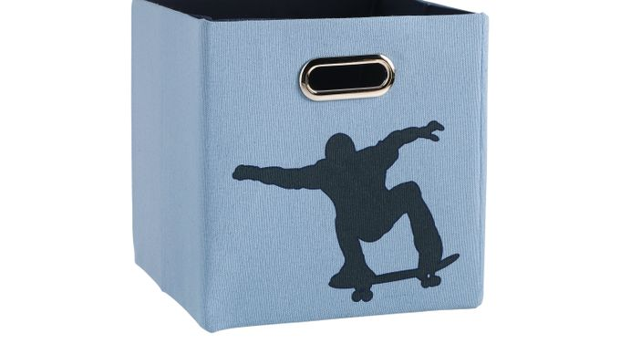 Extreme You Blue and Black Square Storage Bin