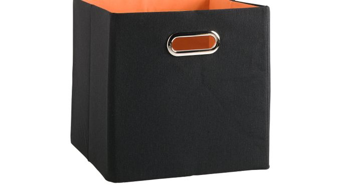 Rugby Black Solid Square Storage Bin