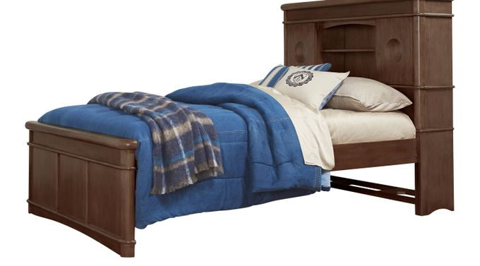 Austin Chocolate (brown)  3 Pc Twin Bookcase Bed