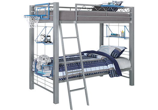 Build-a-Bunk Gray 3 Pc Full/Full Bunk Bed
