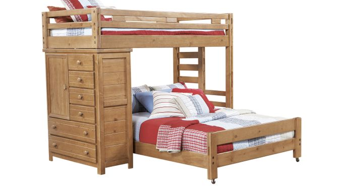Creekside Taffy Twin/Full Student Loft Bed with Chest - Loft/Chest