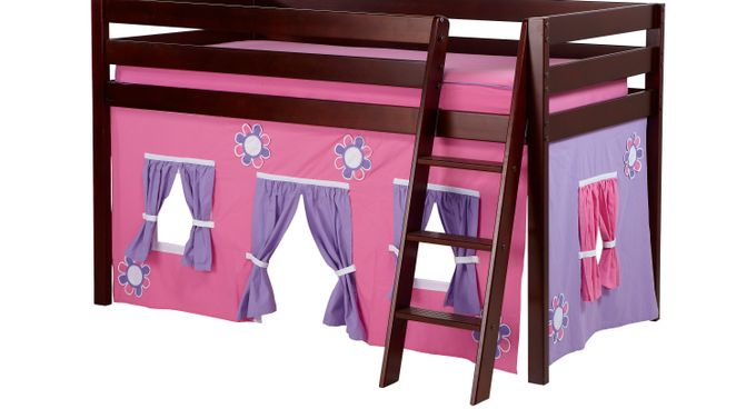 Pink Cottage Cherry Jr. Tent Loft Bed