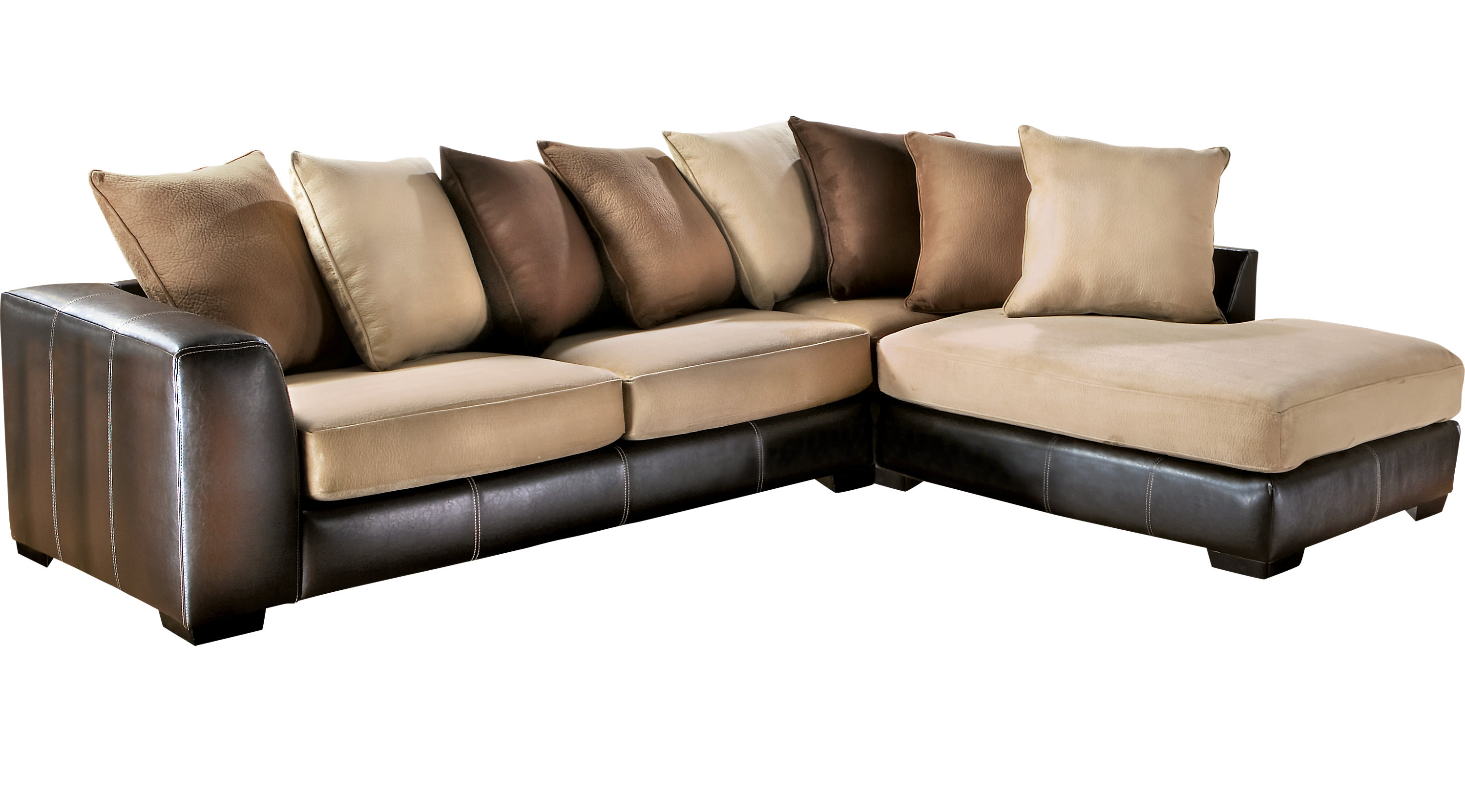 Gregory beige 2 pc sectional contemporary microfiber