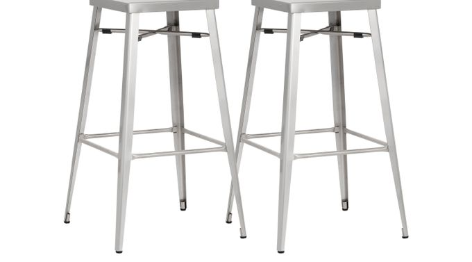 Aaron Place Gray Barstools (Set of 2)