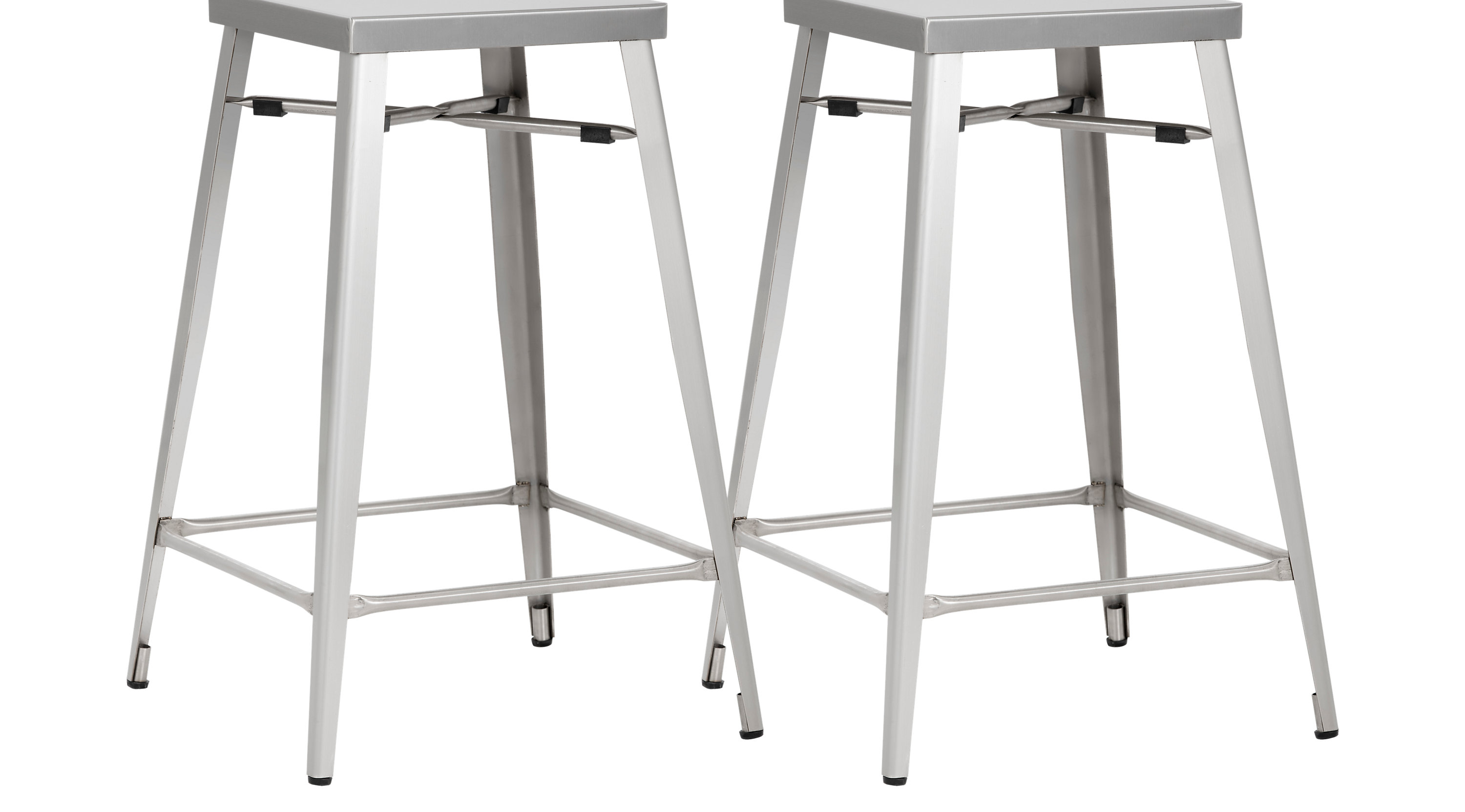 Admirable Aaron Place Gray Counter Height Stools Set Of 2 Gmtry Best Dining Table And Chair Ideas Images Gmtryco