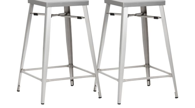 Aaron Place Gray Counter Height Stools (Set of 2)