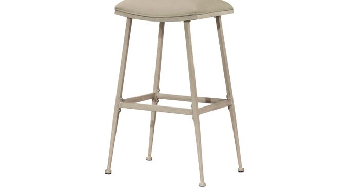 Amsden Off-White Counter Height Stool - Swivel