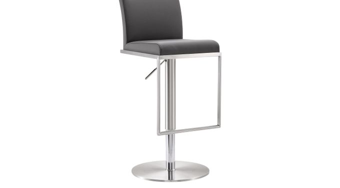 Atrani Gray Adjustable Swivel Barstool - Adjustable Height - Contemporary