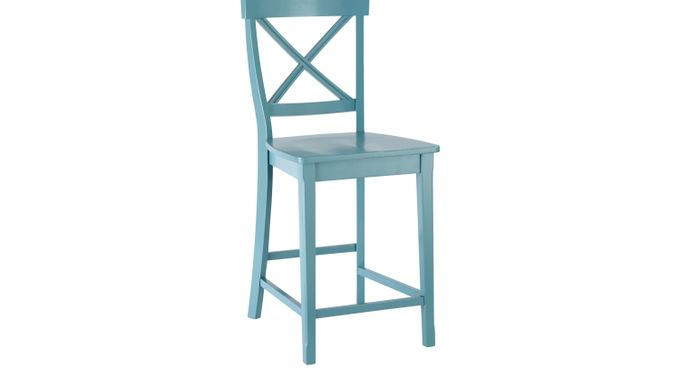 Tremendous Brynwood Blue Counter Height Stool Gmtry Best Dining Table And Chair Ideas Images Gmtryco