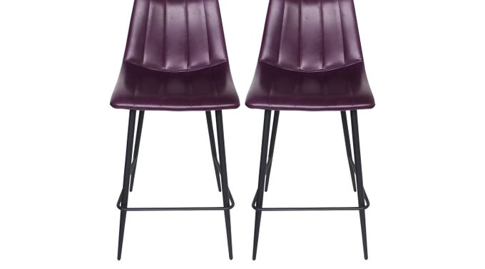 Catron Purple Counter Height Stool (Set of 2) - Contemporary