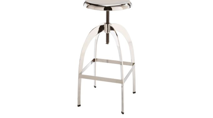 Colby Silver Barstool - Bar Height - Contemporary