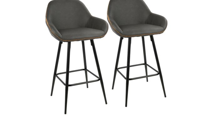Country Club Gray Counter Height Stool (Set of 2) - Contemporary