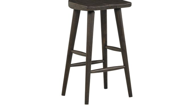 Eric Church Highway To Home Tap Room Brown Wood Barstool - Rustic