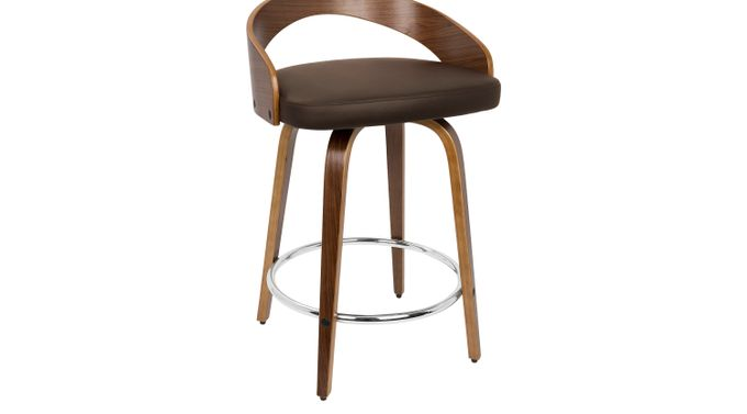 Grotto Brown Counter Height Stool