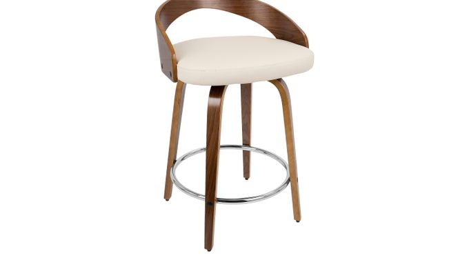 Grotto Cream Counter Height Stool - Contemporary