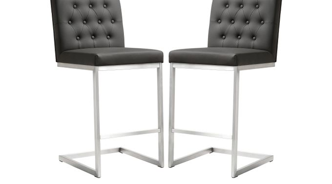 Helsinki Gray Counter Height Stools (Set of 2) - Contemporary