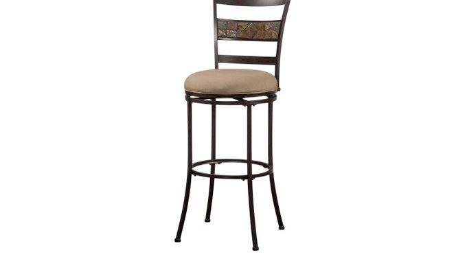 Henning Mocha (medium brown)  Swivel Barstool