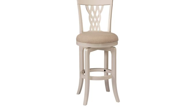 Mari White Swivel Counter Height Stool