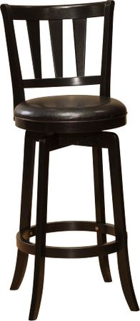 Presque Isle Black Barstool - Bar Height - Transitional