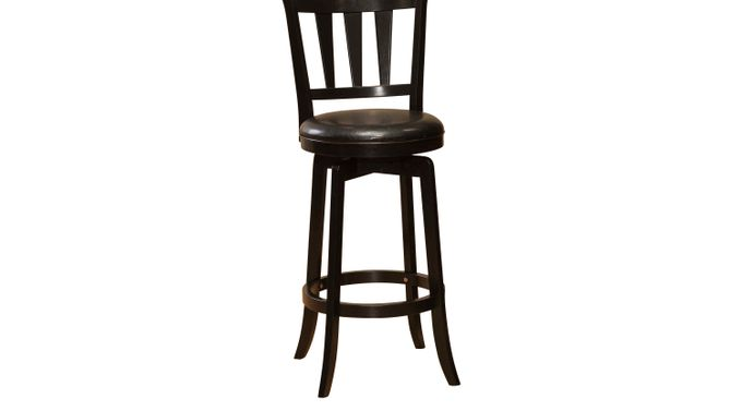 Presque Isle Black Counter Height Stool - Transitional
