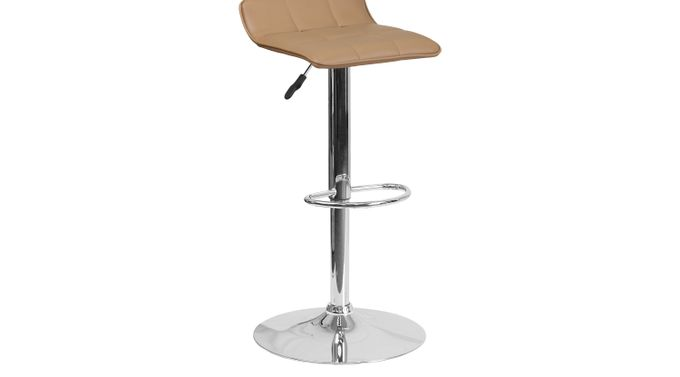 Reggie Mocha (medium brown)  Adjustable Swivel Barstool - Contemporary