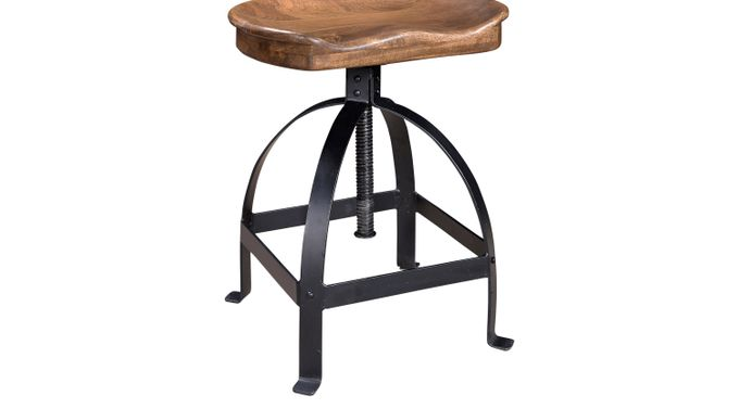 Tex Brown Counter Height Stool - Rustic
