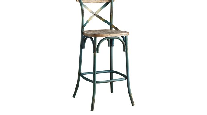 Winhall Turquoise Barstool - Bar Height - Transitional