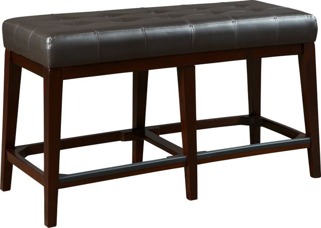 Julian Place Chocolate (brown)  Counter Height Bench - Transitional