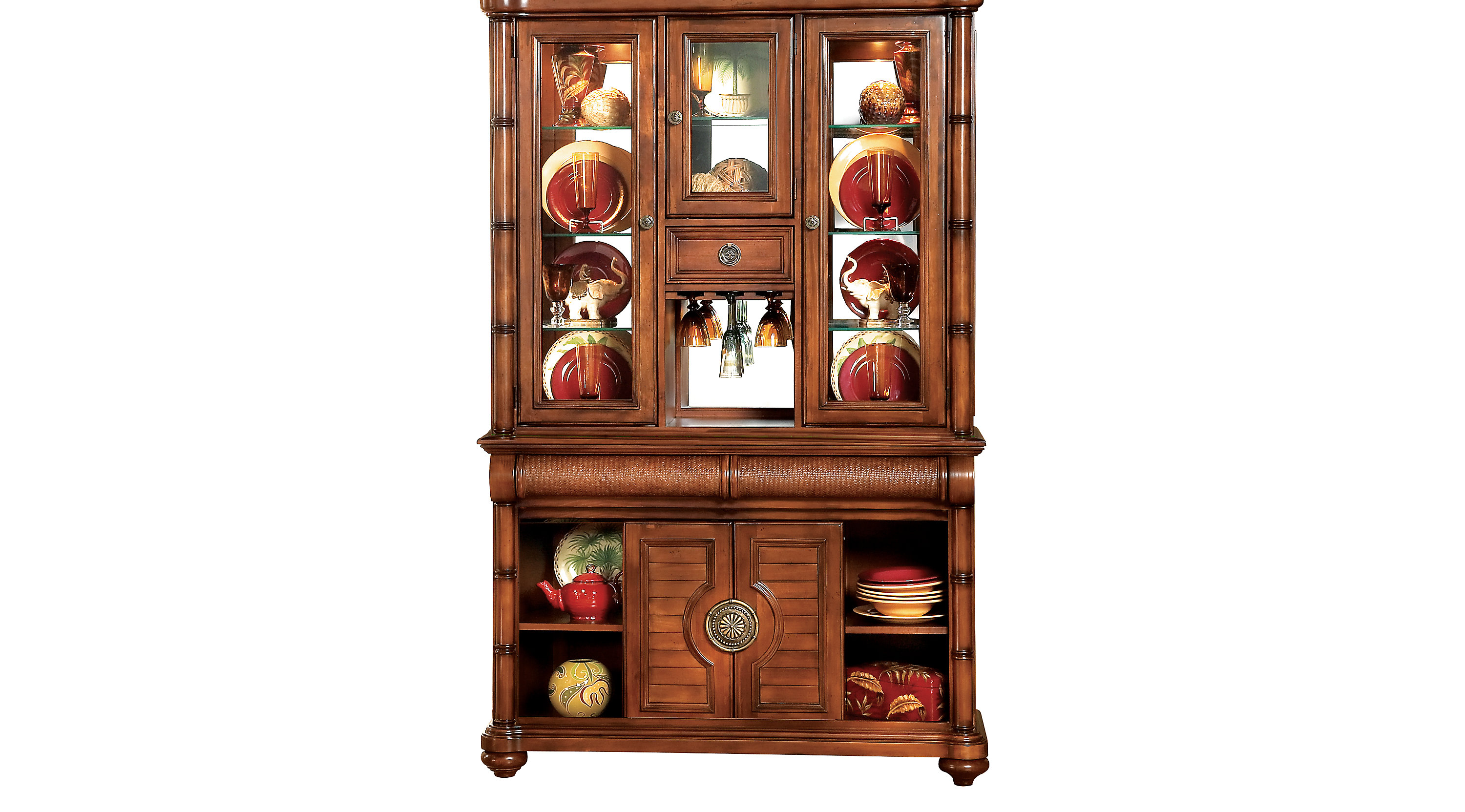 Bon Cindy Crawford Home Key West Tobacco 2 Pc China Cabinet