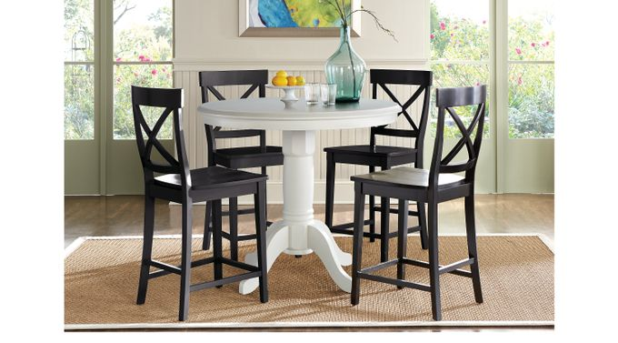 Brynwood White 5 Pc Counter Height Dining Set - Traditional