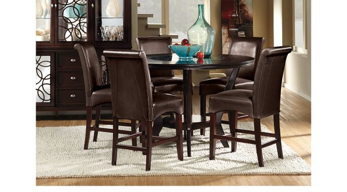 Highland Park Ebony 5 Pc Counter Height Dining Room - Contemporary