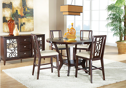 Cindy Crawford Home Highland Park Ebony 5 Pc Counter Height Dining Room