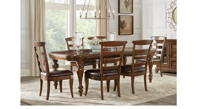 Notting Hill Cherry 7 Pc Dining Room - Rectangle - Traditional