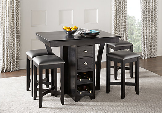 dining rooms dining room sets ellwood black 5 pc bar height dining set