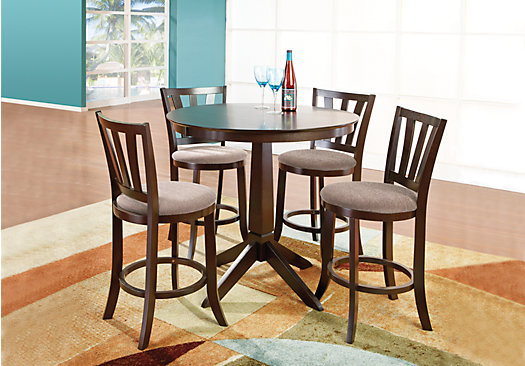 Hallie Espresso 3 Pc Counter Height Dining Room
