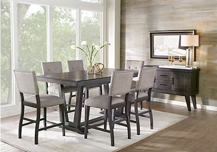 Height Of Dining Room Table coaster hyde counter height square dining table with storage base in cappuccinotable only Hill Creek Black 5 Pc Counter Height Dining Room