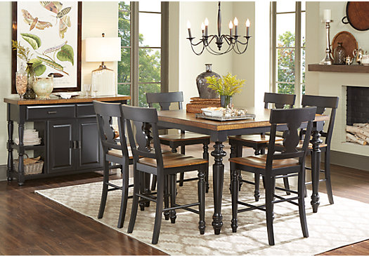 cottage dining room sets hillside cottage black 5 pc counter height dining room 16874