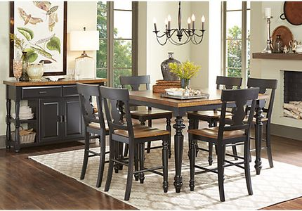 Hillside Cottage Black 5 Pc Counter Height Dining Room
