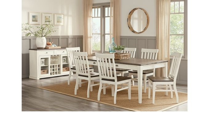 Keston White 5 Pc Rectangle Dining Room - Casual