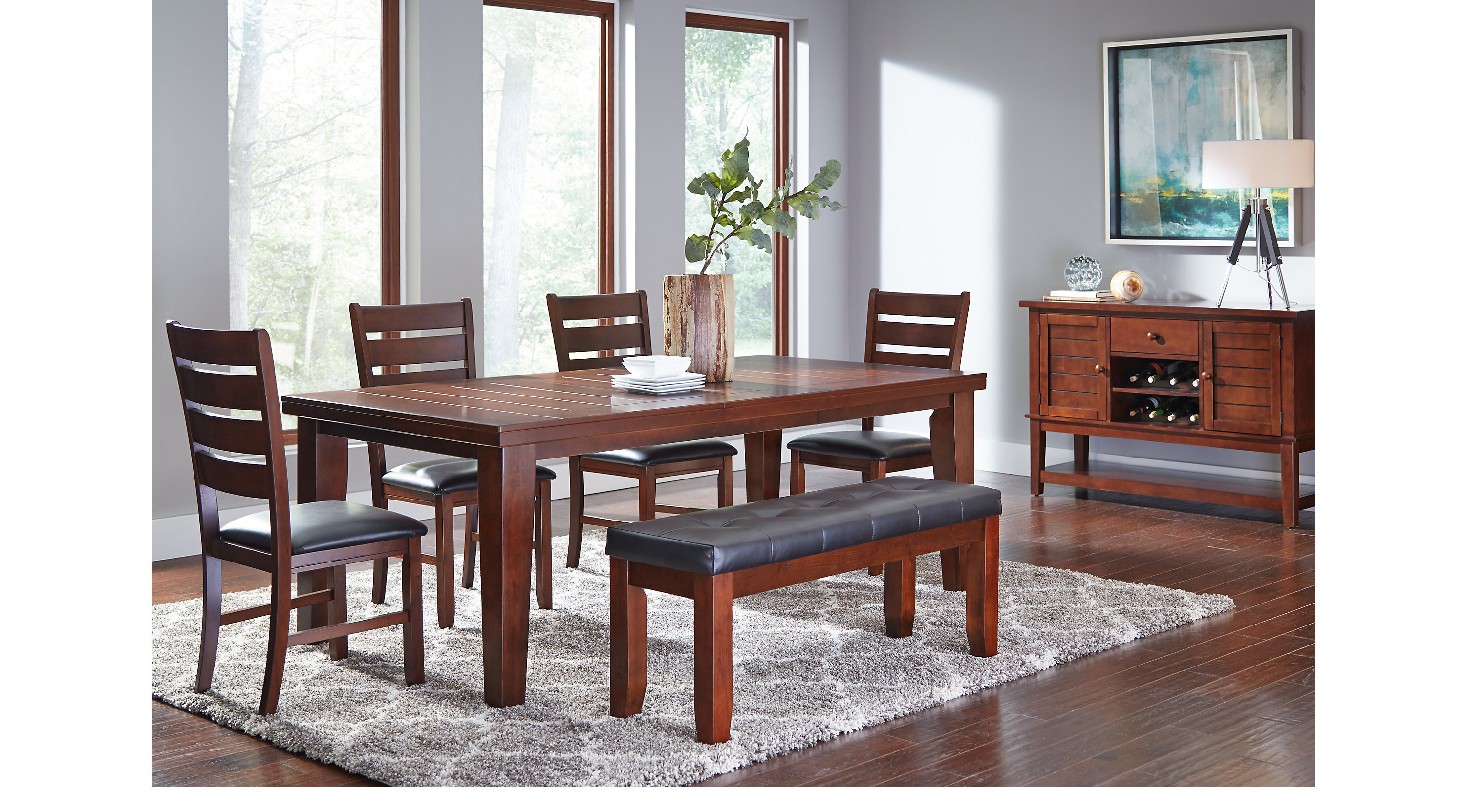 Lake Tahoe Brown 6 Pc Rectangle Dining Room   Traditional