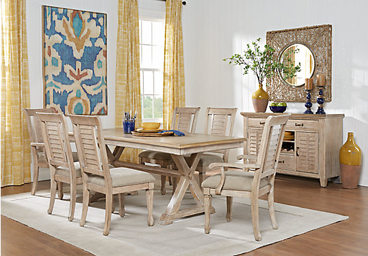 Nantucket Breeze White 5 Pc Dining Room Rectangle