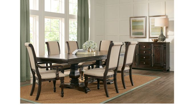 San Luis Oak 7 Pc Rectangle Dining Room - Formal