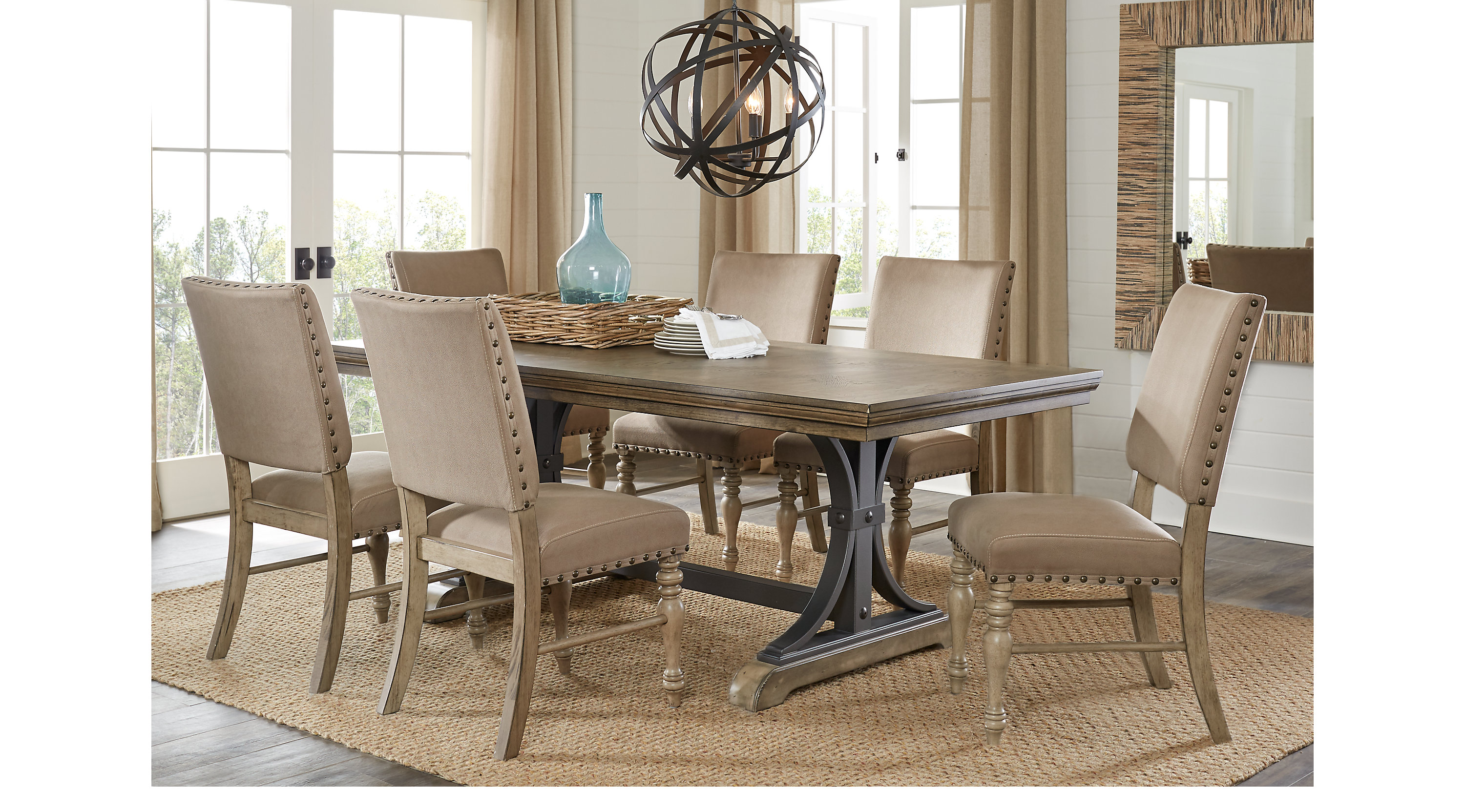 Sierra Vista Driftwood brownish gray 5 Pc Rectangle Dining Set