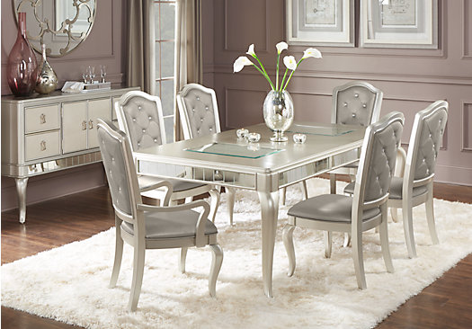 Paris Silver 5 Pc Dining Room Rectangle Contemporary : sofia vergara paris silver 5 pc dining room525x366 4218970P from www.furniture.com size 525 x 366 jpeg 55kB