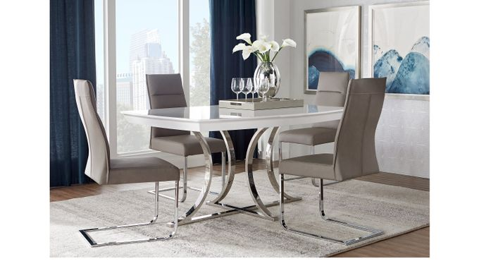 WAsh (gray) ington Square 5 Pc Dining Room - Rectangle - Contemporary